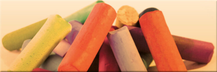 Photograph of pastel art sticks